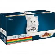 Gourmet Multipack Perle Finas Láminas en sobres para gatos 60 x 85 g - Ocean Collection (atún, salmón, platija, pescado del océano)