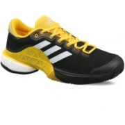 ADIDAS Barricade 2017 Boost Tennis Shoes For Men(Black, Yellow, White)