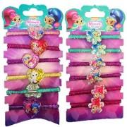 Set 6 elastice de par colorate Shimmer&Shine
