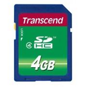 Transcend Scheda SD , 4 GB, Scheda SDHC, TS4GSDHC4