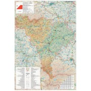 Harta Judetului Alba 70x100 cm sipci plastic