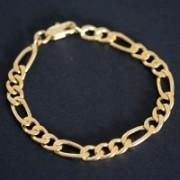Pulseira Banho de Ouro 3x1 20cm / 1cm p505