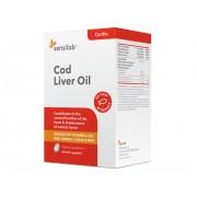 Sensilab Cod Liver Oil (olej z tresčích jater): 100% přírodní olej z tresky pro silné kosti a zuby, pro udržení zraku a normální funkce srdce a mozku. 60 kapslí na 2 měsíce.