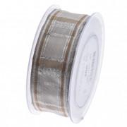 Szalag kockás 40mmx20m natúr ezüst