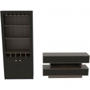 Combo TuHome Rack TV + Bar - Siena/Wengue