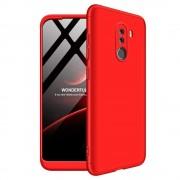 GKK 360 Protection telefon tok hátlap tok Első és hátsó tok telefon tok hátlap az egész testet fedő Xiaomi Pocophone F1 piros