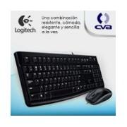 TECLADO/MOUSE LOGITECH MK120 NEGRO ALAMBRICOS USB PC / WINDOWS