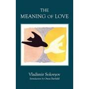 The Meaning of Love, Paperback/Vladimir Solovyov