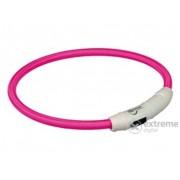 Lesă iluminată cu încărcător USB Trixie XS-S 35cm/7mm, pink