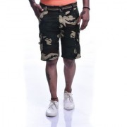 Timbre Men Army Shorts with 9 Pockets Multicolor Camouflage print