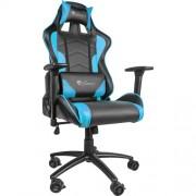 Scaun gaming Genesis NITRO 880 BLUE Negru/Albastru, Textil si Piele, Metal