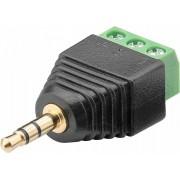"""Adattatore Audio 3.5"""" Maschio a Terminal Block 3 pin"""