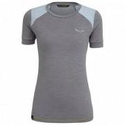 Salewa - Women's Pedroc Hybrid Dry S/S Tee - T-shirt technique taille 42, gris