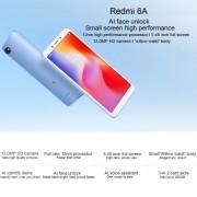 """Celulare Xiaomi Redmi 6A,2GB+16GB 5.45"""" Versión Oficial Global - Negro"""
