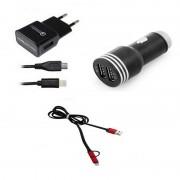 Owlotech Carregador Quick Charge 2.0 USB Lighting + Carregador USB 2.1/1.0 A para Carro + Cabo Conversor USB/Micro USB/Lightning