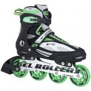Bel Sports Patins Bel Sports B Xtreme 5000 - In Line - Fitness - ABEC 7 - Base de Alumínio - Adulto - PRETO/VERDE