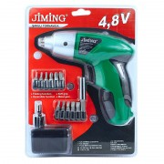 Surubelnita electrica Jiming, 4.8 V, 12 capete interschimbabile