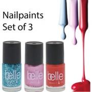 Set of 3 Nail paints (Belle Paris)