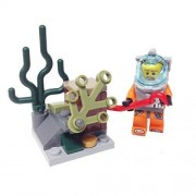 MinifigurePacks: Lego Deep Sea Explorer Bundle (1) DEEP SEA Diver (1) Seabed Treasure Build (3) Figure Accessories