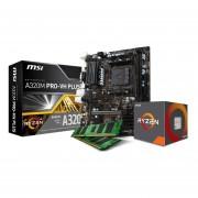 Micro Amd 3.9 Ghz + Tarjeta Madre Asrock A320M + Memoria Ram 16GB DDR4