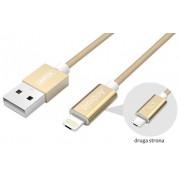 Kabel USB HYBRID microUSB/Lightning Gold