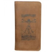 Kan New Year Gift-Tan Hunter Leather Cheque Book Holder/Passport Holder/Card Case for Men & Women(Tan)