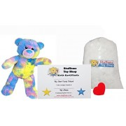 """Make Your Own Stuffed Animal Mini 8 Inch """"Cotton Candy"""" Bear Kit - No Sewing Required!"""
