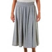 Seniors' Wear Marle Elastic Waist Skirt - Marle Grey XL