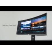 """Monitor LED DELL UltraSharp U3419W 34"""" Curved, 3440x1440, 21:9, IPS, 1000:1, 178/178, 5ms, 300cd/m2, VESA, DisplayPort, HDMIx2, USB Type-C"""