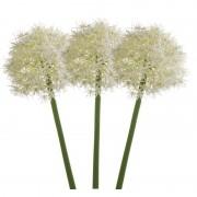 Merkloos 3x Allium kunstbloem wit 65 cm
