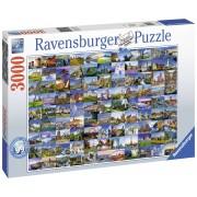 PUZZLE EUROPA 99 LOCURI, 3000 PIESE - RAVENSBURGER (RVSPA17080)