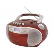 SoundMaster SCD6900RO FM CD-radio CD, Cassette, Middengolf, FM Rood