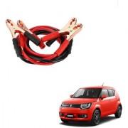 Auto Addict Premium Quality Car 500 Amp Heavy Duty Copper Core Tangle Battery Booster Cable 7.5 Ft For Maruti Suzuki Ignis