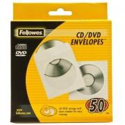 Fellowes 90690 custodia CD/DVD Custodia a tasca 1 dischi Trasparente, Bianco
