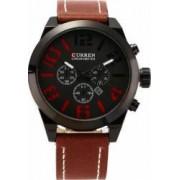 Ceas casual barbatesc Curren Quartz Chronometer cu afisaj data 8198-1 visiniu