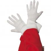 Merkloos Witte Sinterklaas handschoenen kort