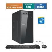GABINETE EASYPC DUAL CORE 2GB RAM HD 250GB WIN 10