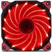 120mm LED ultra silencioso PC caja ventilador de la computadora 15 leds 12V con goma molex conector silencioso facil instalacion ventilador rojo