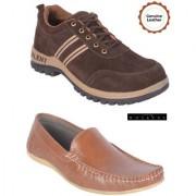 Woakers Men's Saftey Lofer Combo Shoes