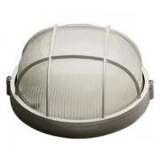 Lampa de exterior rotunda cu grila (max.60W) alb - TG