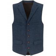Carl Gross Heren Mouwloos jasje van 100% scheerwol Van Carl Gross blauw