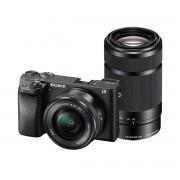 Sony Alpha A6300 systeemcamera Zwart + 16-50mm OSS + 55-210mm OSS