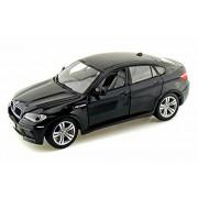 Bmw X6 M, Black Bburago 12081 1/18 Scale Diecast Model Toy Car