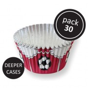 PME Foil Baking Cups Red Football Pk/30