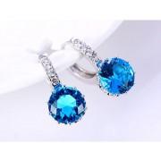 Cercei cristale albastre argint 925 Sun Dazzle