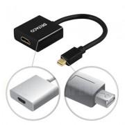 . mini DisplayPort till HDMI adapter, 20-pin ha - 19-pin ho, 0,18m, svart