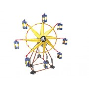 LOZ Li Chi fight inserted plastic Lego building block toy windmill Ferris wheel electric yellow