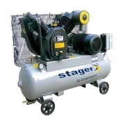 Compresor Stager 07V V-100/8 Actionare curea 190L 8 bar 1000l