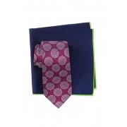 Ted Baker London Silk Melange Medallion Tie Pocket Square Set PINK
