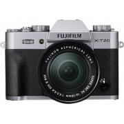 Fujifilm Systemkamera Fujifilm X-T20 XC16-50 mm + XC50-230 mm II 24.3 Megapixel Svart-silver 4K-video, Full HD Video, Elektronisk sökare, WiFi